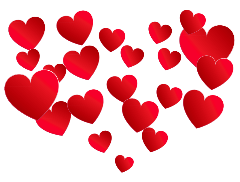 Transparent of hearts picture. Png heart banner black and white stock
