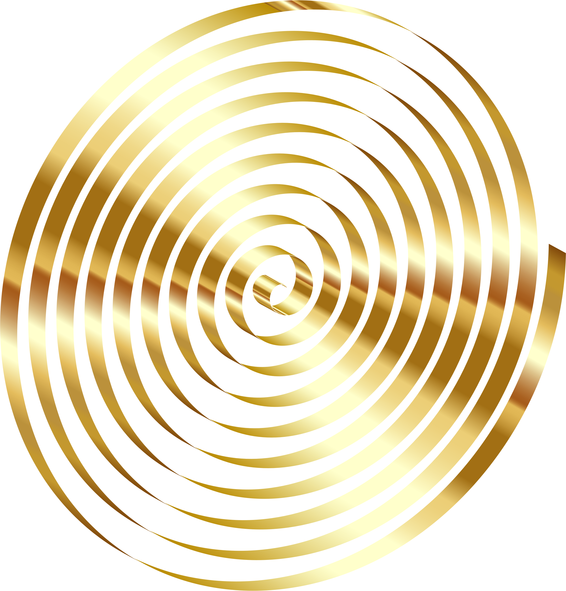 Png image no background. Clipart gold d spiral