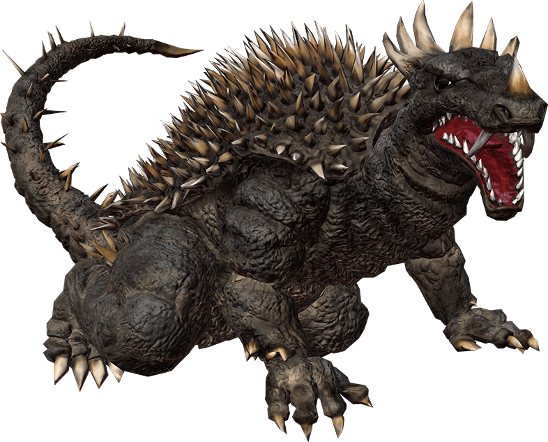 Godzilla destroy all monsters melee png. Image anguirus ps gojipedia
