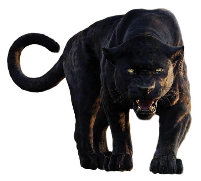 Image disney s bagheera. Panther transparent freeuse