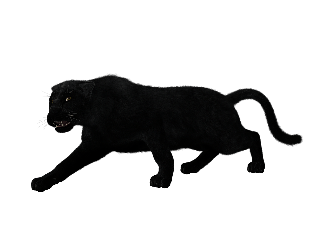 Black full body png. Panther transparent picture library