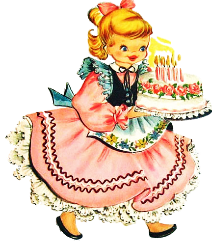 Png images of blonde blowing out birthday candles. Vintage from imagimeri s