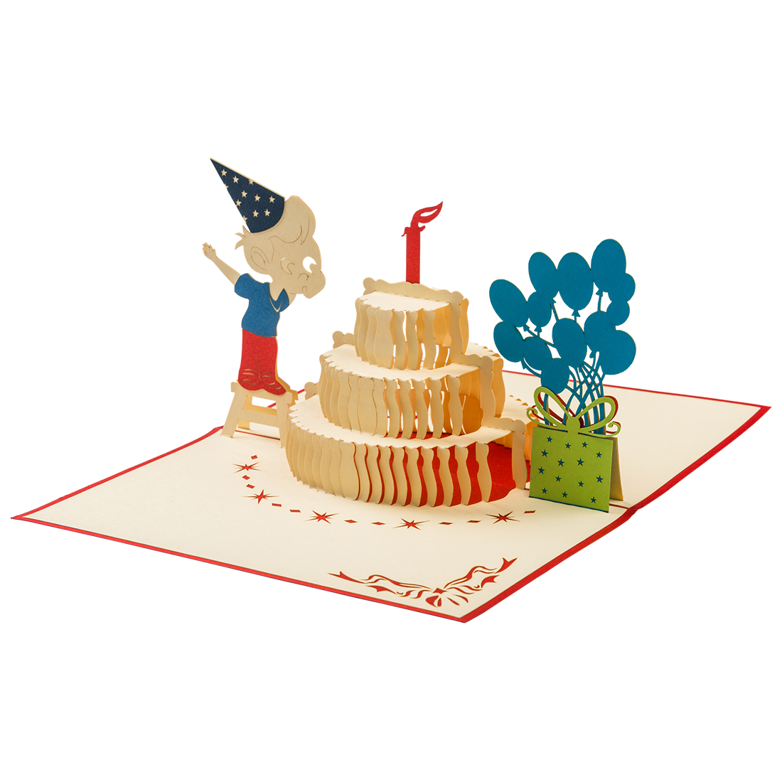 Png Images Of Blonde Blowing Out Birthday Candles Boy Open Card Now