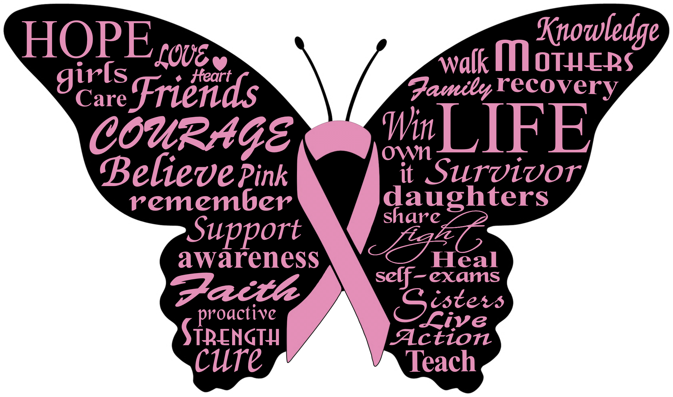 Breast cancer quotes png. Cupcake topper for our