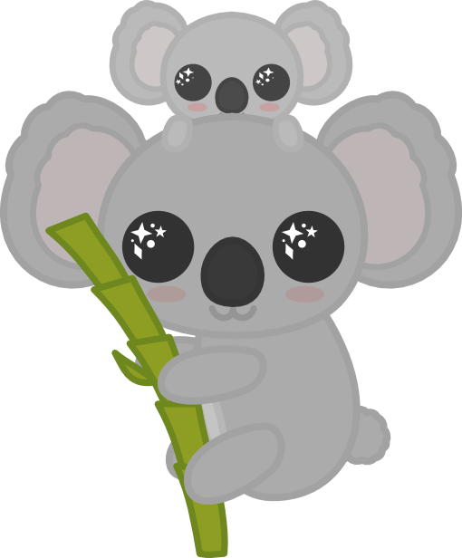 transparent koala kawaii