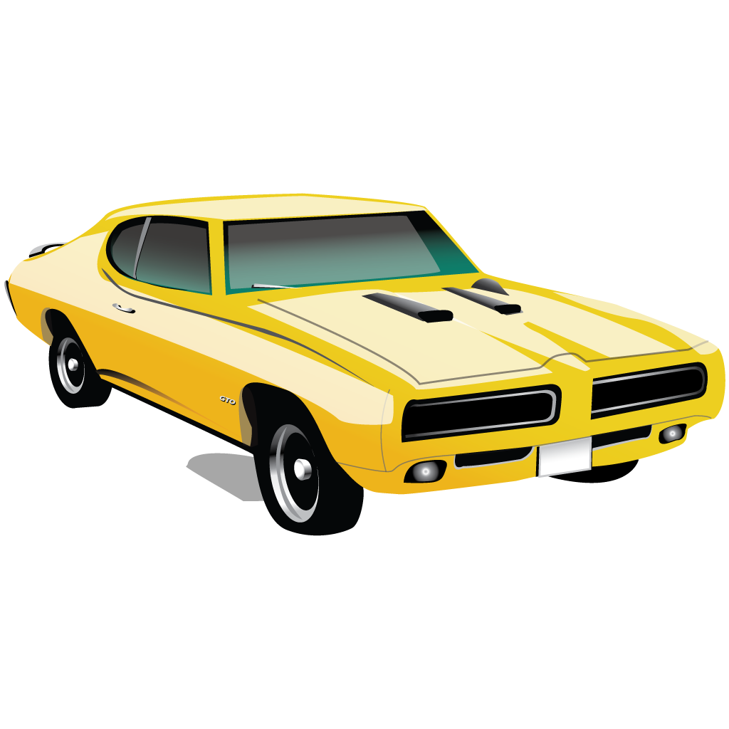 Png images of muscle car. Pontiac gto icon classic
