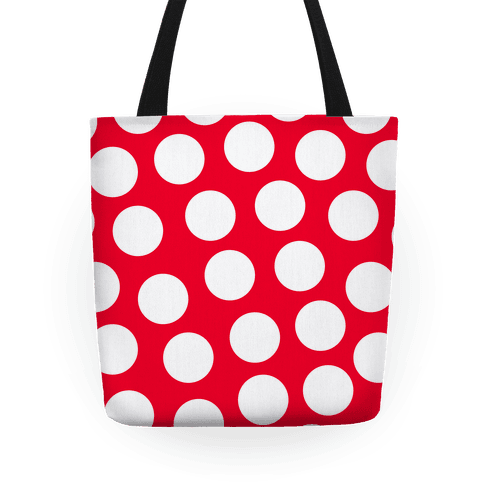 Png images of red polka dots. Dot tote bag lookhuman
