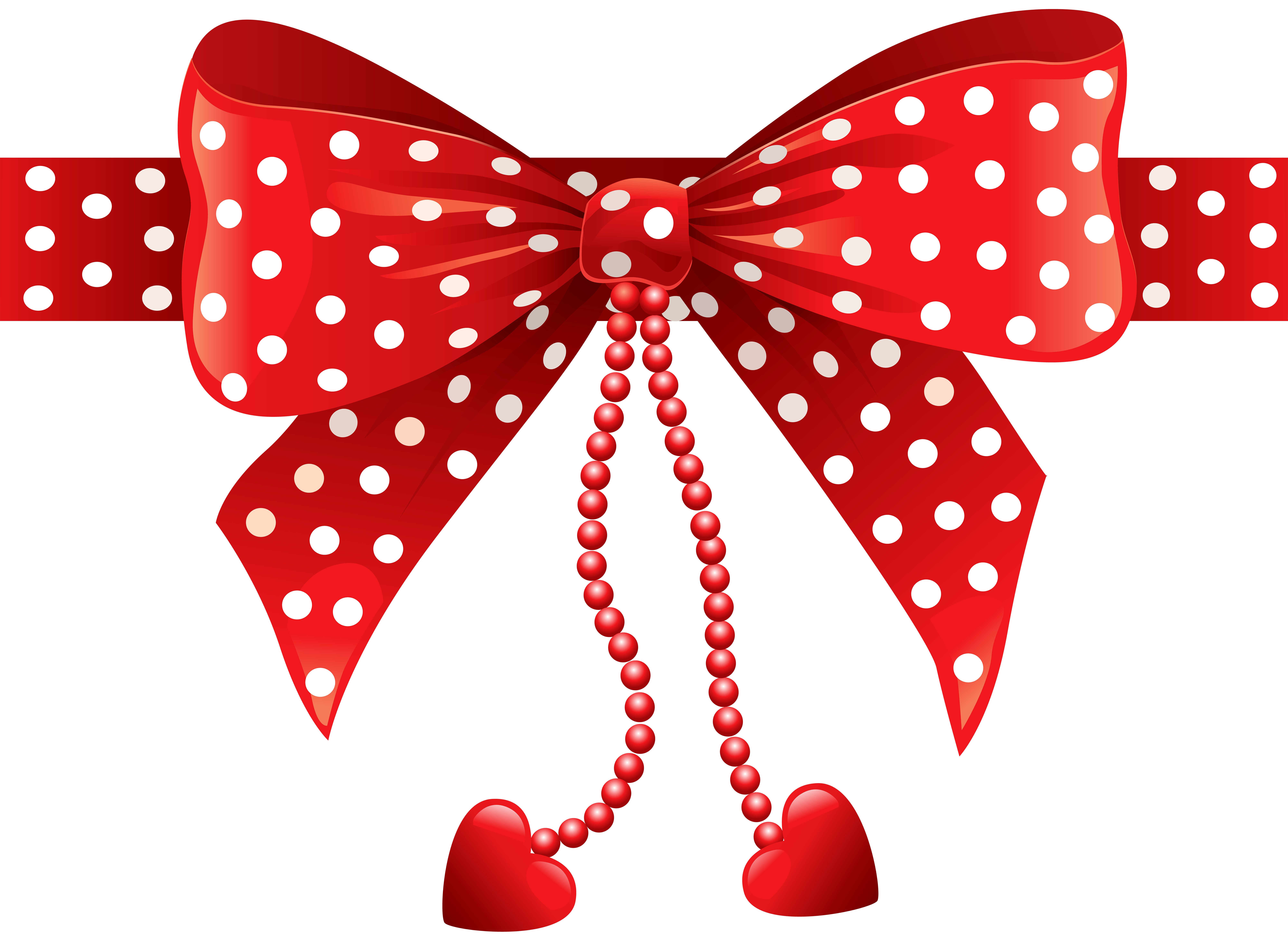 Png images of red polka dots. Bow transparent clip art