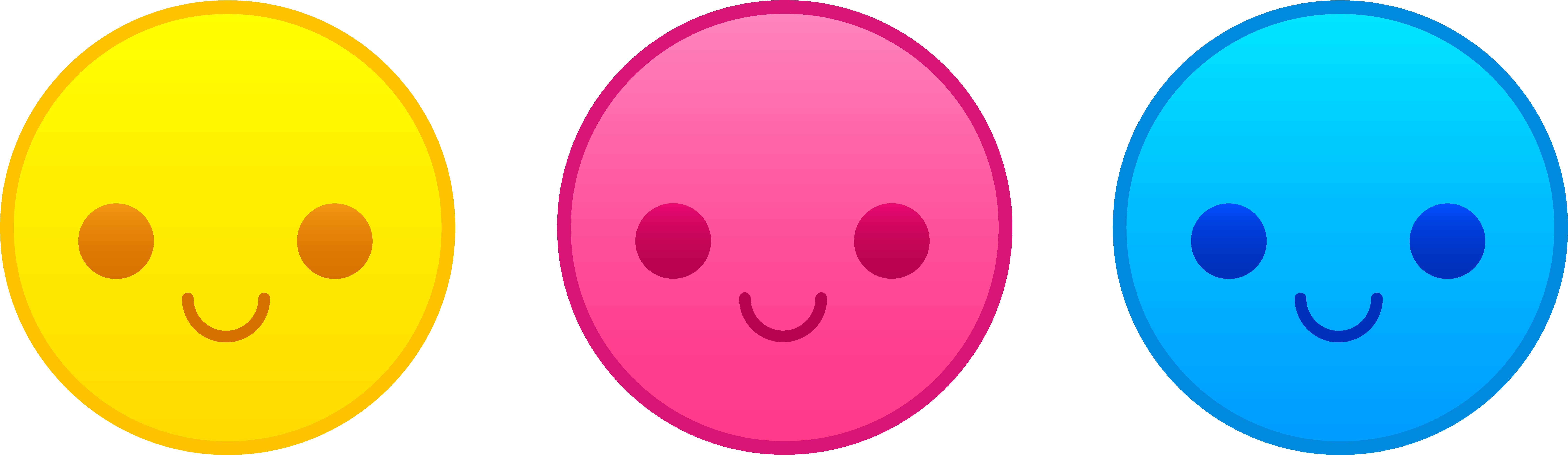 Png images of smiley face. Cute clipart