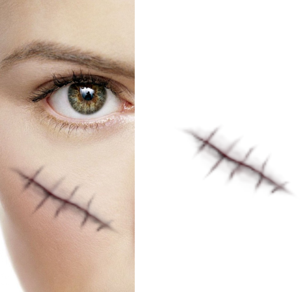 Stitches transparent. Create wound psd official