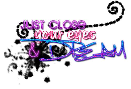 Png images text. Just close your eyes