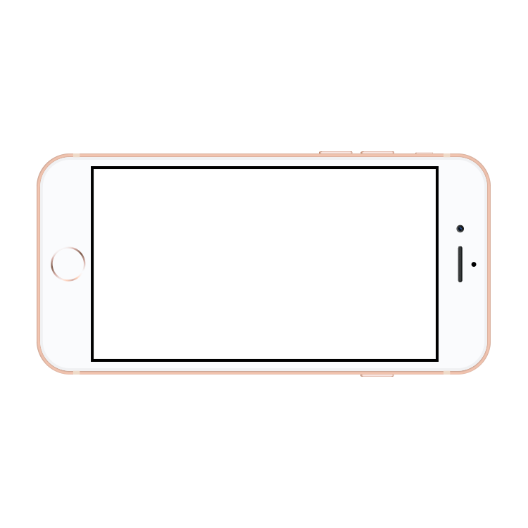 Png iphone 8 plus. Gold mock up mockup