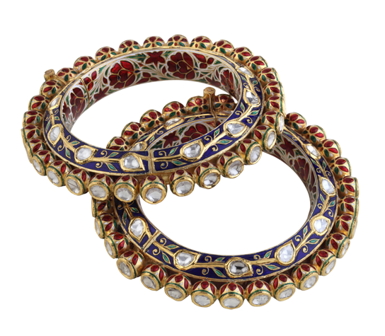 Png jewellers pune designs. Polki bangles hazoorilal collection