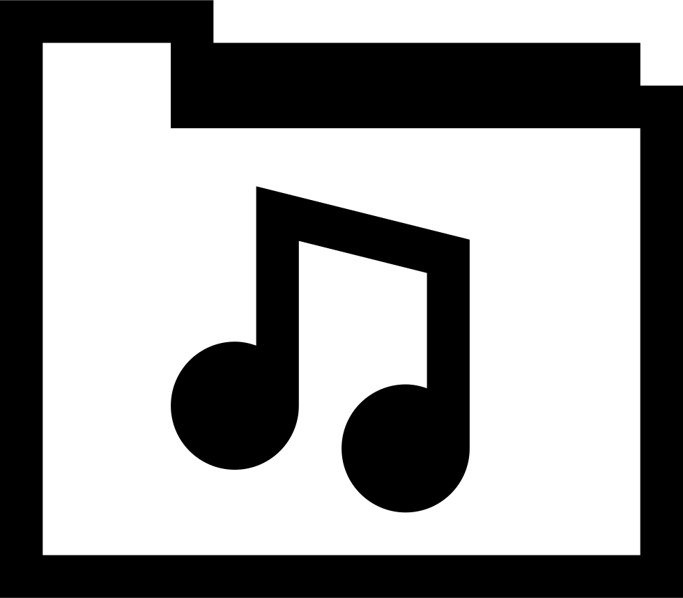 Png latest music 2015 download. Folder svg icon free