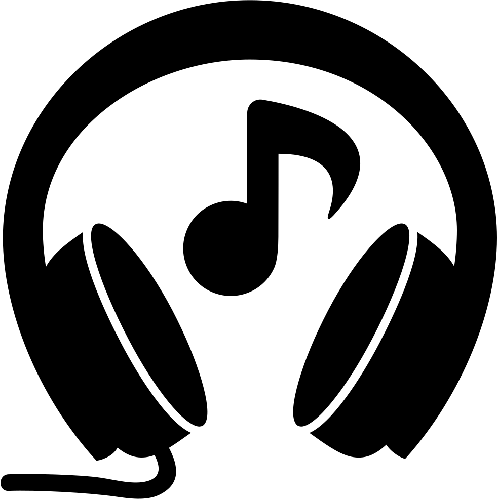 Png latest music free download. Headphones with note svg