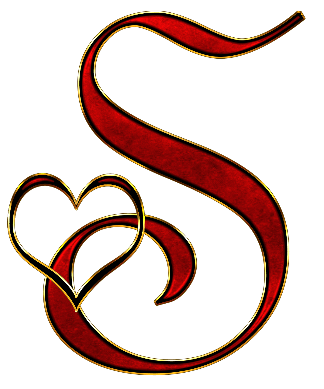 Png letter s. Valentine capital transparent stickpng