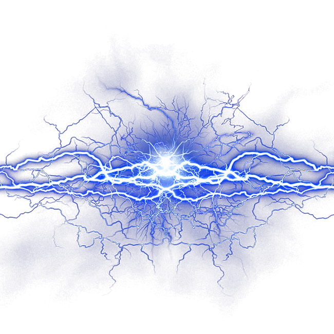 Png lightning effects. Icon blue fresh effect