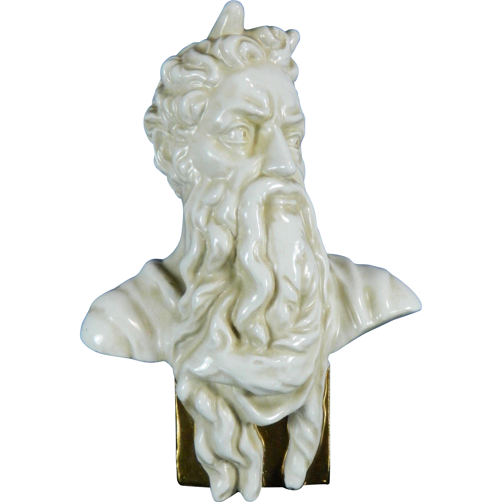 Png moses statue clear background. Vintage white porcelain bust
