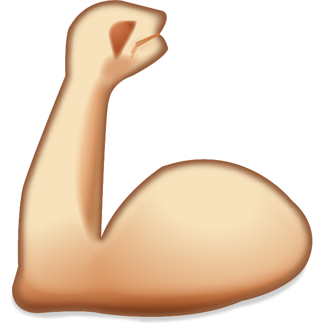 Buff arms png. Iphone apple color emoji