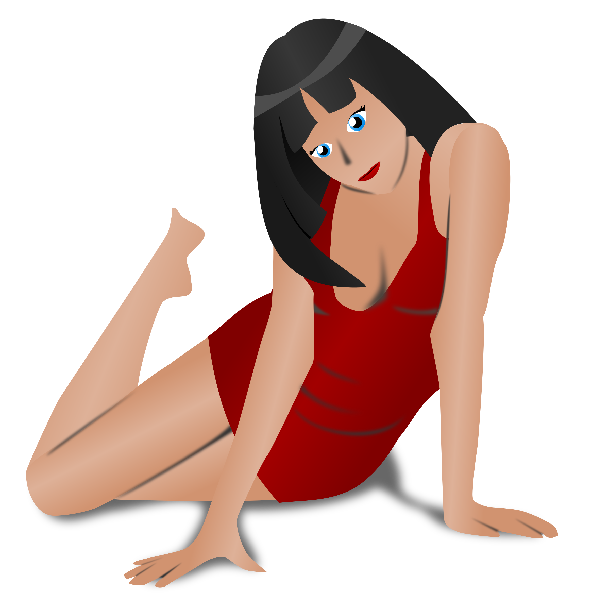 Women in red png. Clipart lady big image