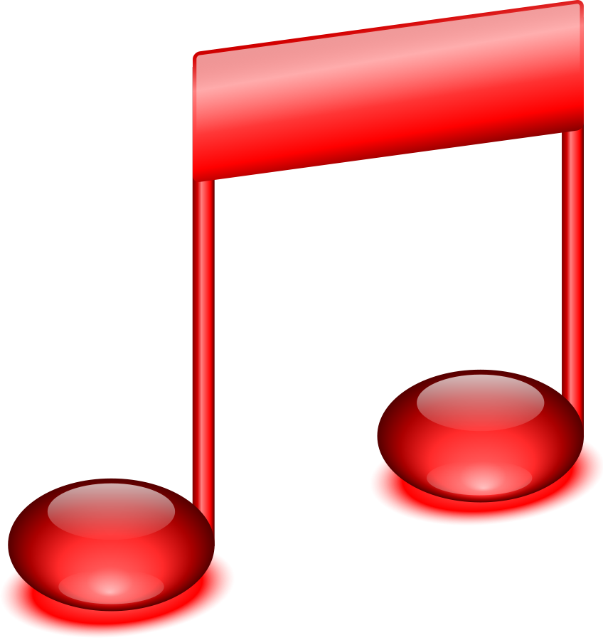 Music note clipart red. Free musical download clip