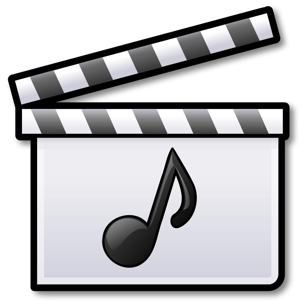 Png music video clip. File film clapperboard svg
