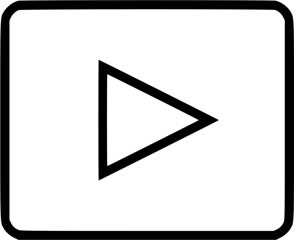 Png music video youtube. Player play media svg