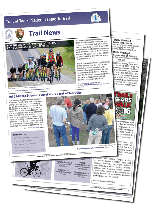 Png national news papers. Trail of tears association