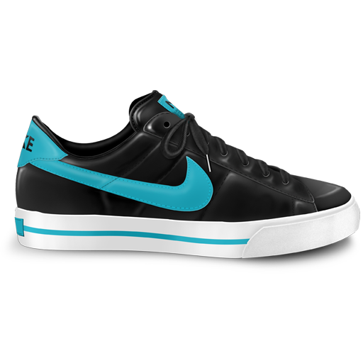 Png nike. Classic shoe blue icon