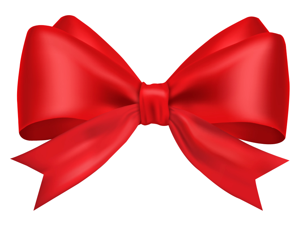 Png no background. Red bow ribbon free