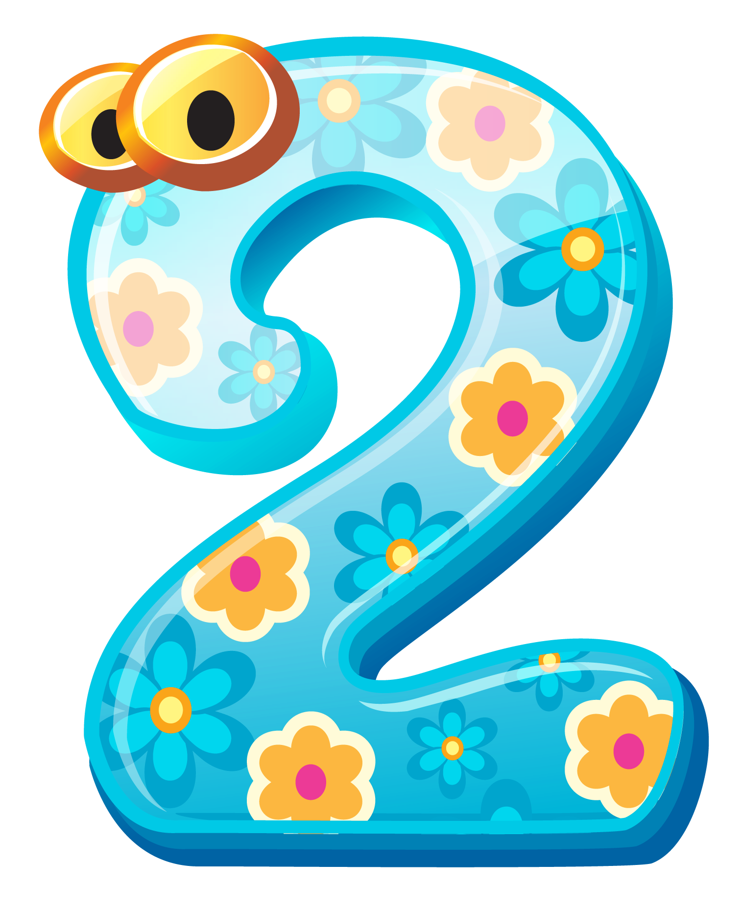 Numbers clipart png. Cute number two image