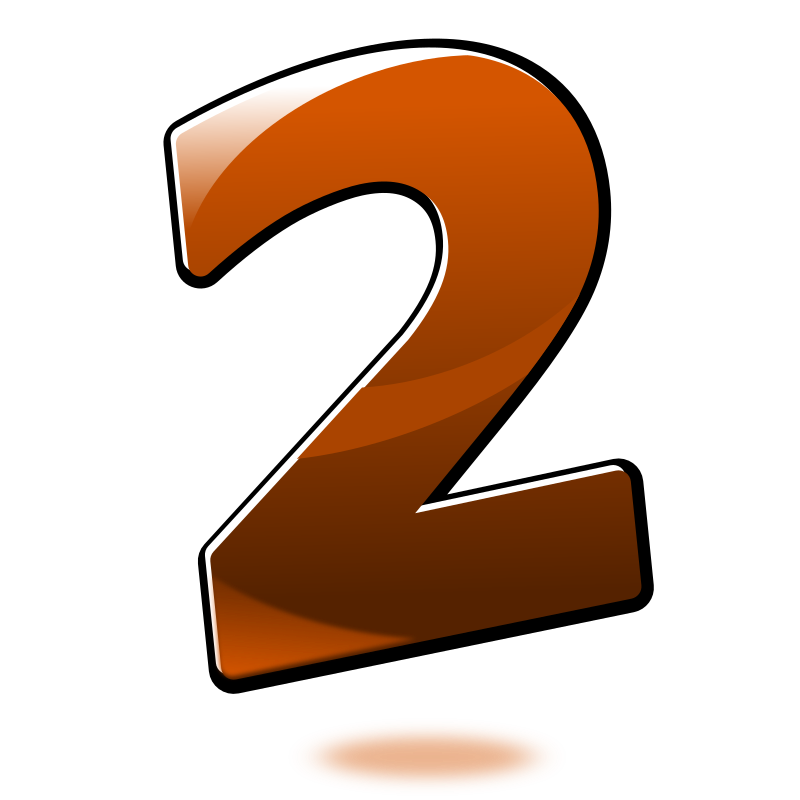 Png number 2. Clipart glossy two medium