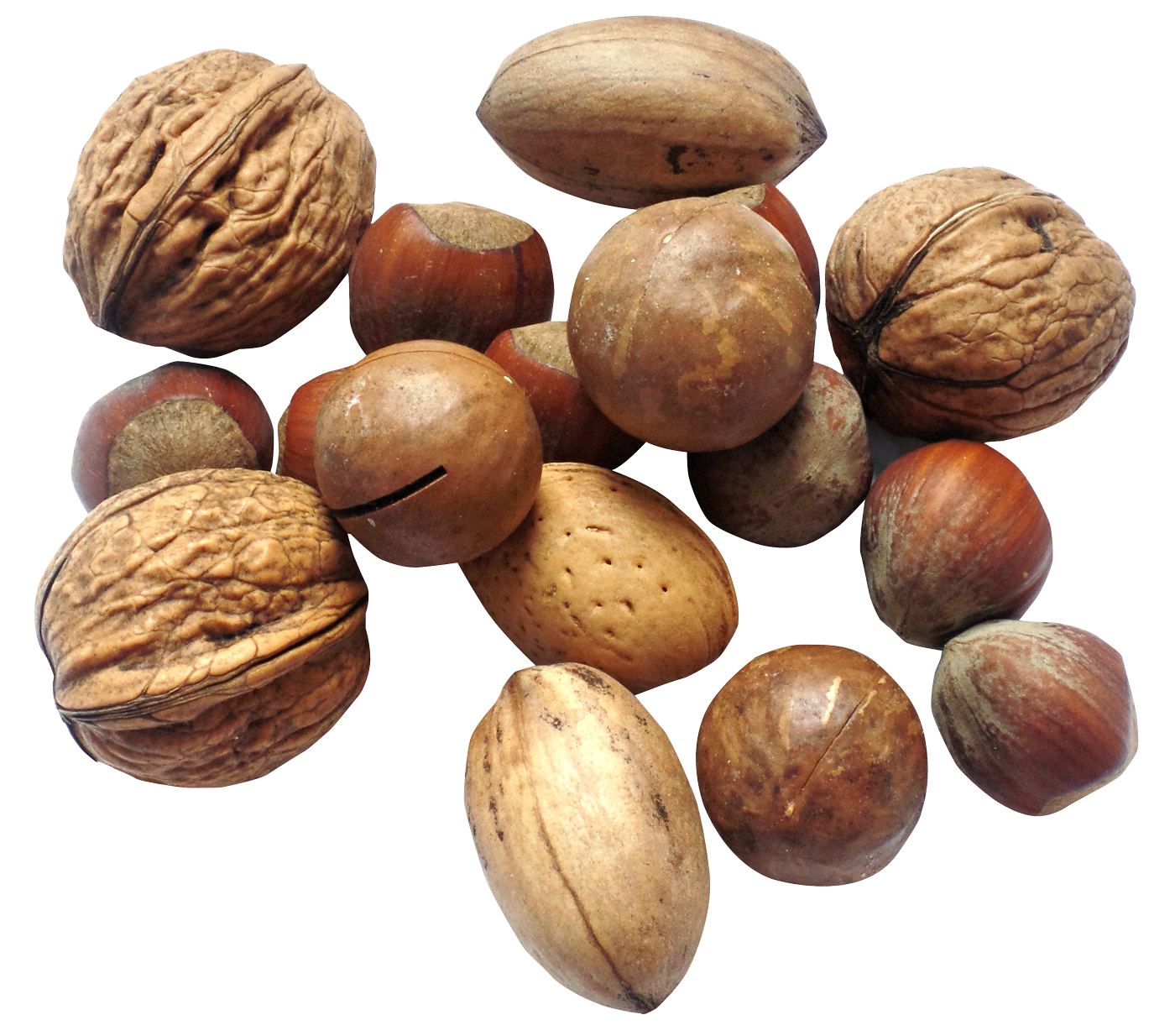nuts transparent healthy mix