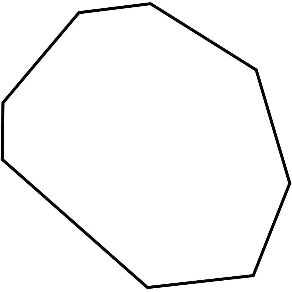 Octagon transparent pixel. File irregular svg simple
