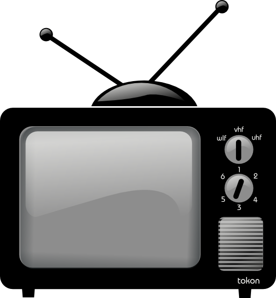 Png of a tube television. Old clip art at