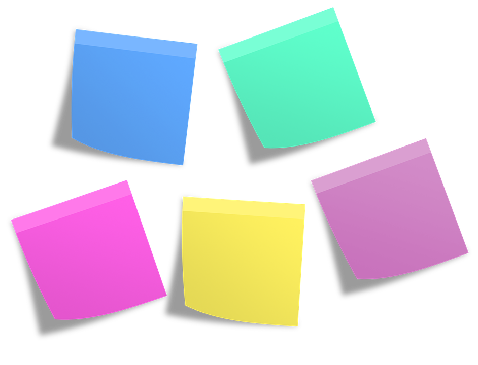 Png of sticky notes stack colorful. For your desk