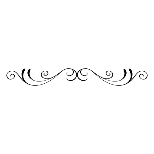 Svg swirls vector. Curvy floral ornament transparent