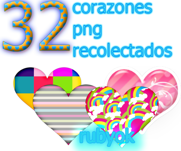 Png pack for photoshop. Corazones by rubyok on