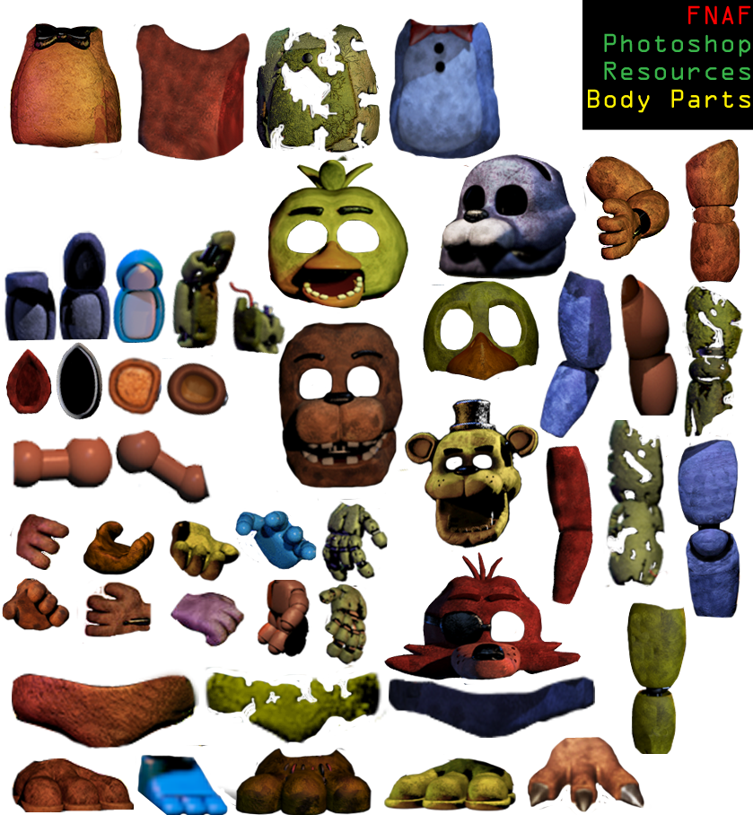 Png pack for photoshop. Fnaf resources final update
