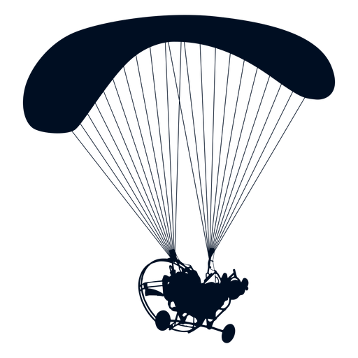 Png parachute illustration. Powered paraglider trike silhouette