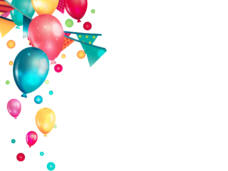 Png party. Birthday balloons vector clipart