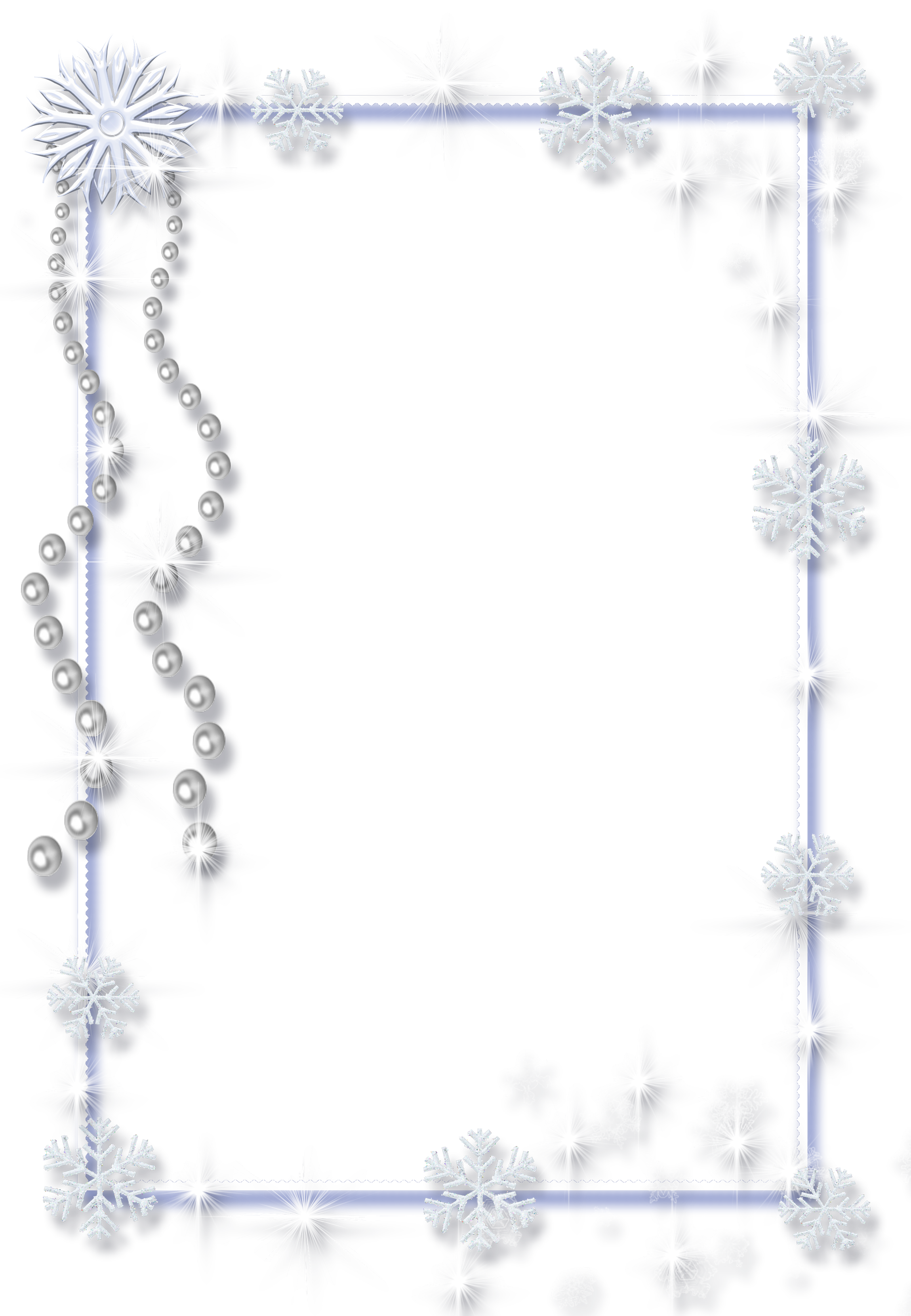 Png pearl borders. Large christmas transparent ice
