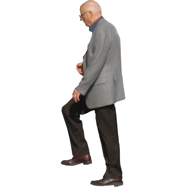 Png people stairs. A bald man ascends
