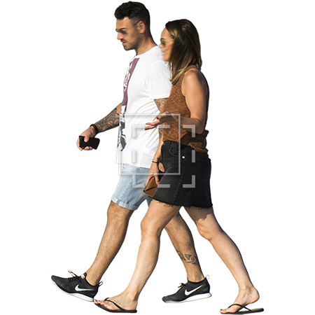 Person walking png. Man and woman in