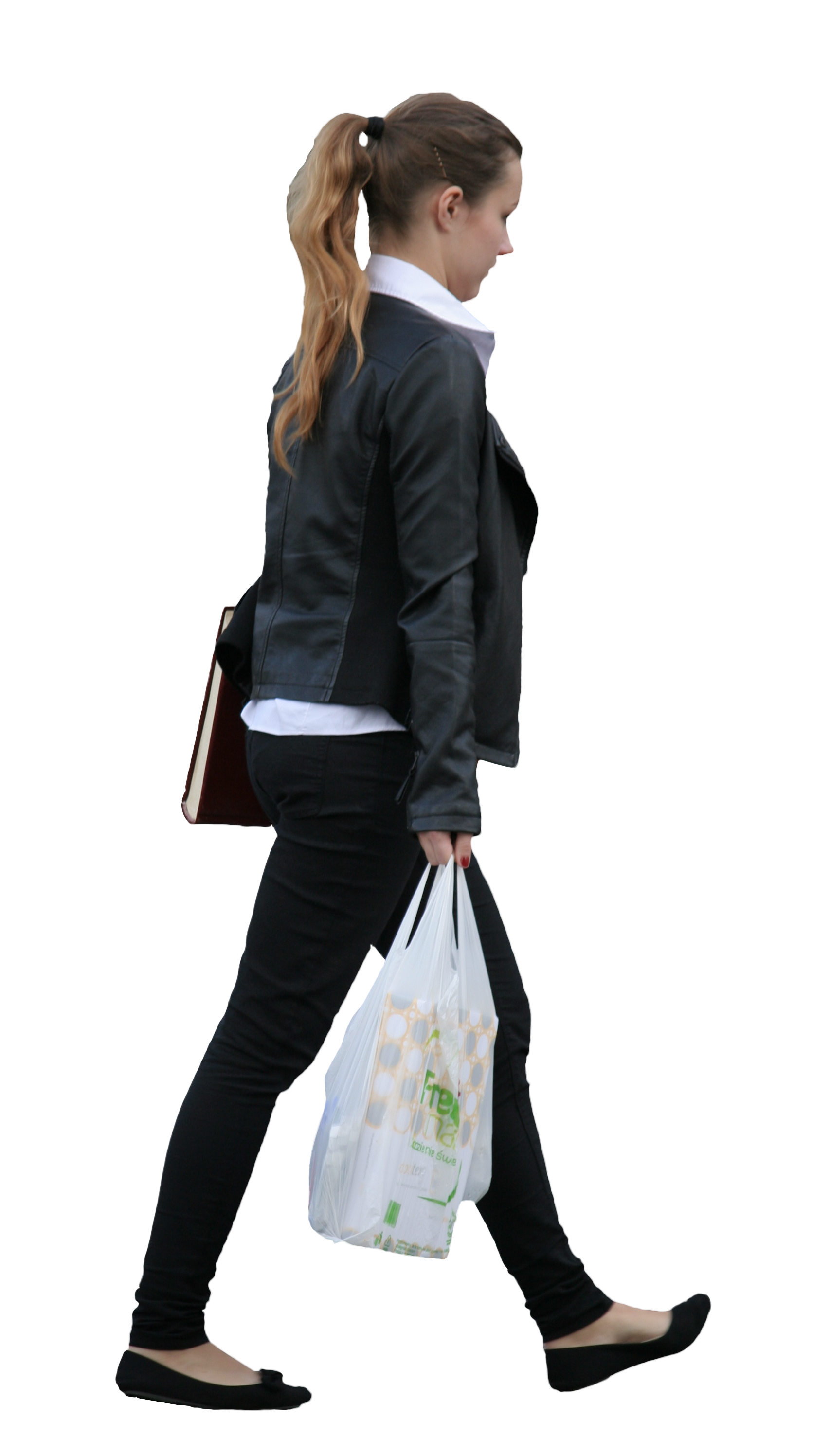 Free png people. Girl with shopping bag