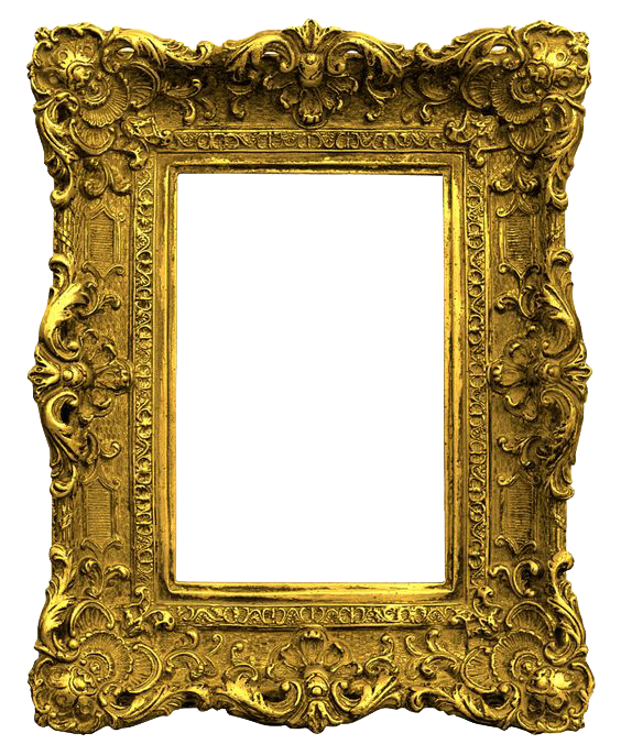 Png photo frame free download. Gold transparent images all