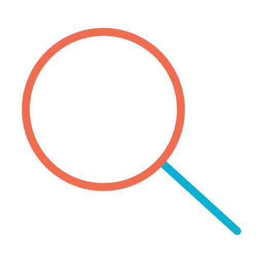 Vector viewer. Colorful zoom icon transparent