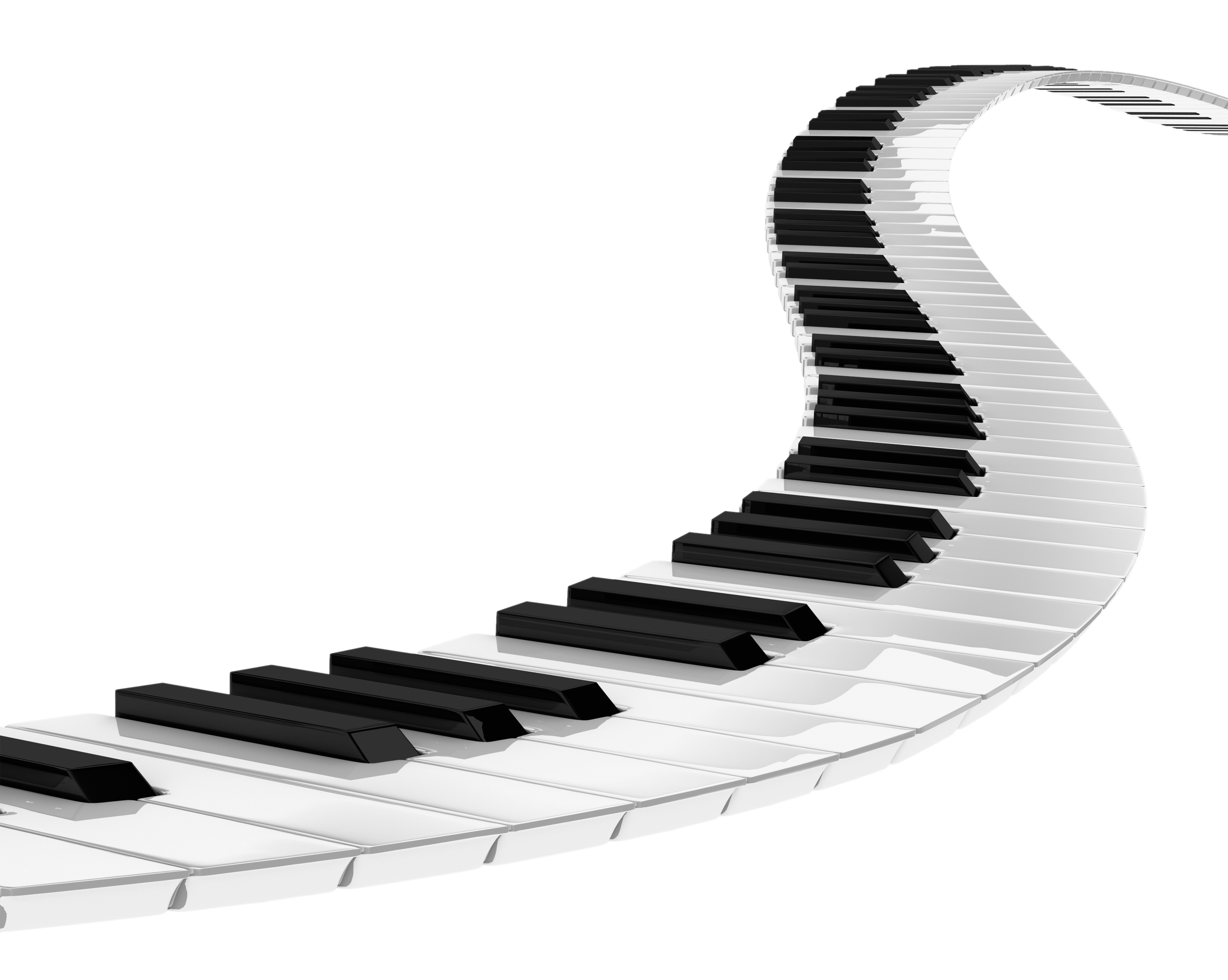 Transparent pianos. Piano spiral png stickpng