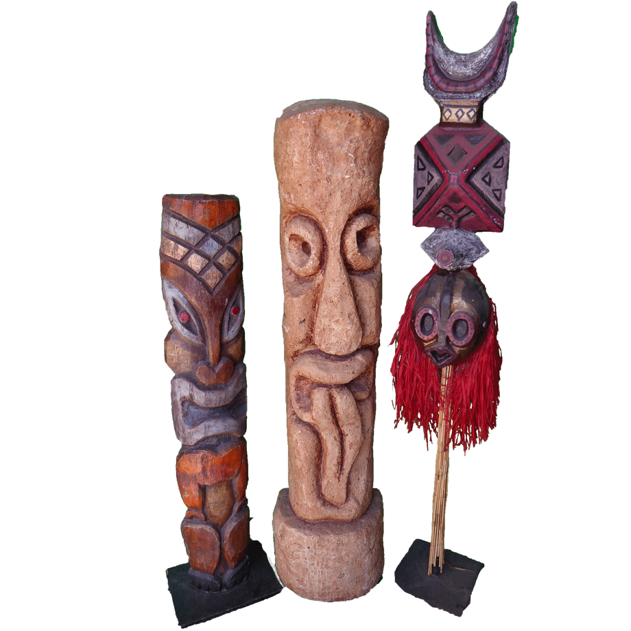 Png pic of flat tiki statue. Statues seven productions
