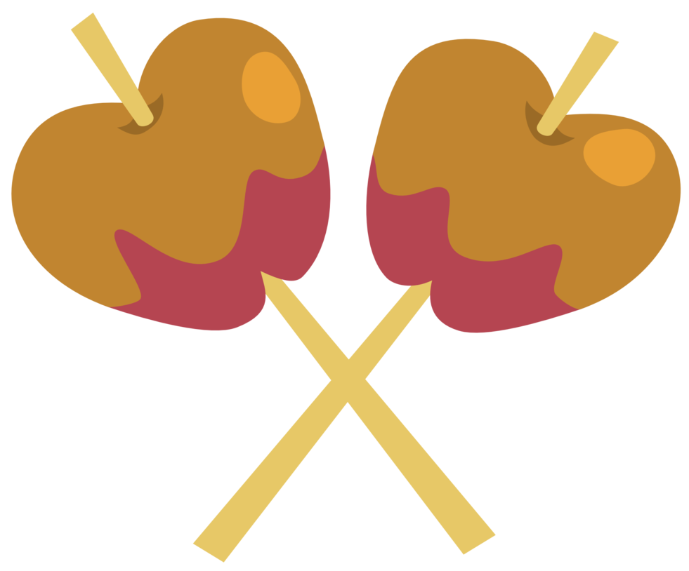 Apples vector candy. Crossed by the smiling